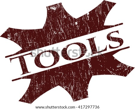 Tools rubber grunge texture stamp - stock vector