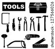 tools set, vector - stock vector
