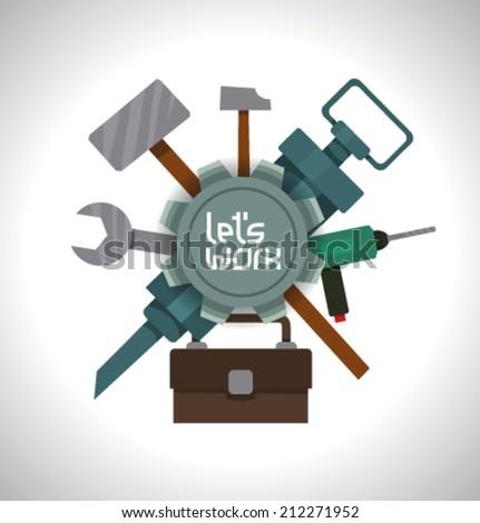 Tools, vector - stock vector