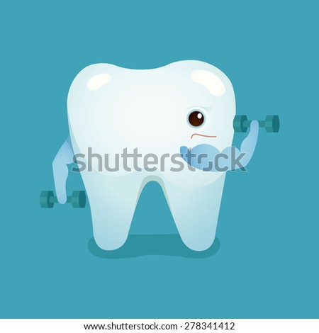 Tooth be strong of dental vector - stock vector