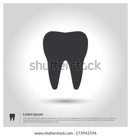 Tooth vector silhouette tooth icon vector tooth icon pictograph icon on gray background vector illustration for web site mobile voltagebd Choice Image