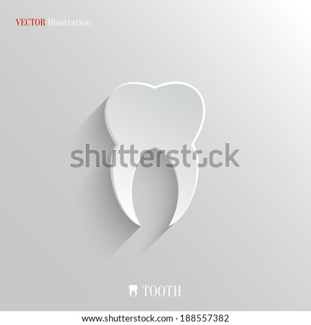 Tooth icon - vector web illustration, easy paste to any background - stock vector