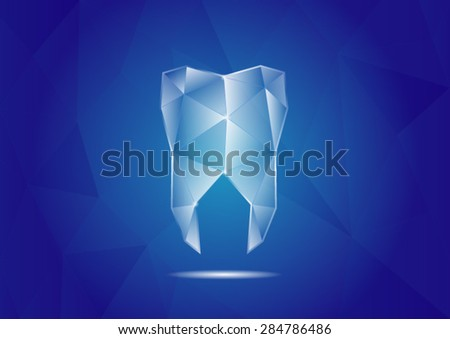 tooth polygon - stock vector