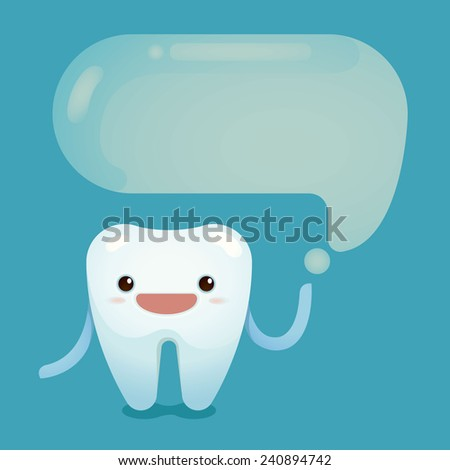 Tooth saying - stock vector