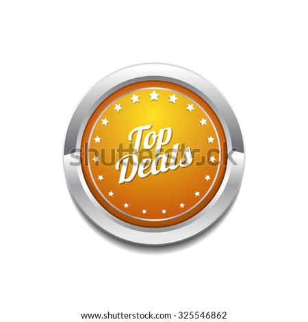 Top Deals Yellow Vector Icon Button
