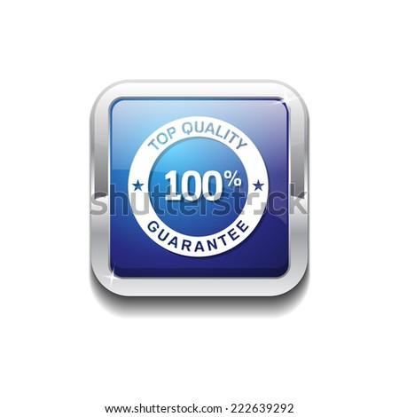 Top Quality Blue Vector Icon Button - stock vector