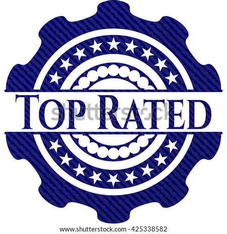 Top Rated denim background - stock vector