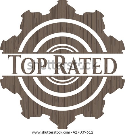Top Rated wood emblem - stock vector