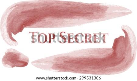 Top Secret aquarelle background - stock vector