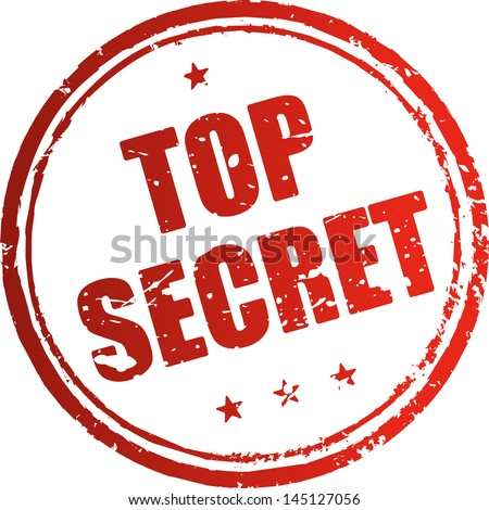 Top secret red rubber stamp - stock vector