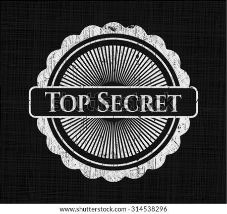Top Secret written on a blackboard - stock vector