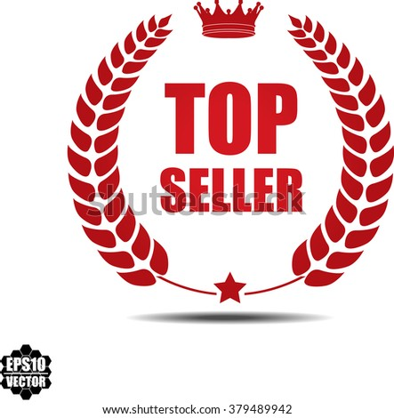 Top seller, Label, Sticker or Icon Isolated on White Background.Vector - stock vector