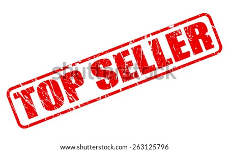 Top seller red stamp text on white - stock vector