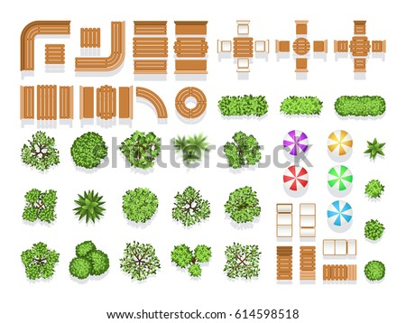 Top view landscaping architecture city park stock vector for Punch home and landscape design 3d black screen