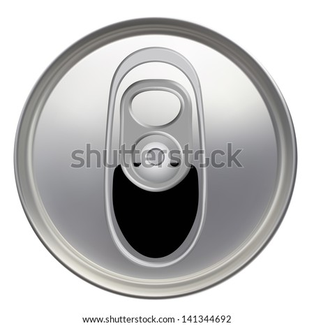 Top view of a opened soft drink can. EPS-10 - stock vector