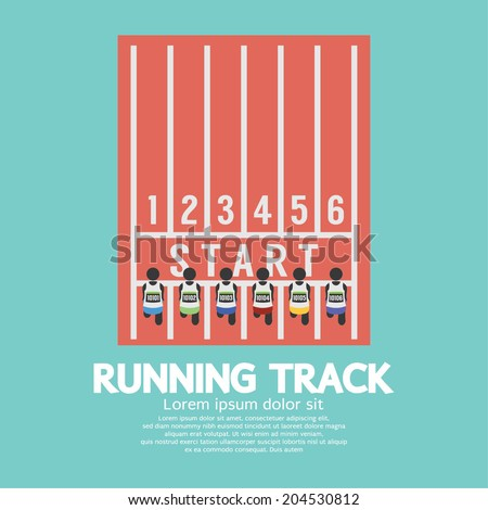 Top View Running Track Vector Illustration - stock vector