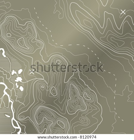 Topographic Map - stock vector