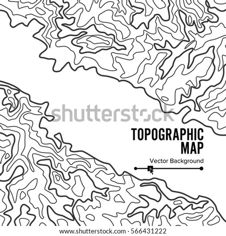 Topographic Map Background Concept Elevation Map Stock Vector ...