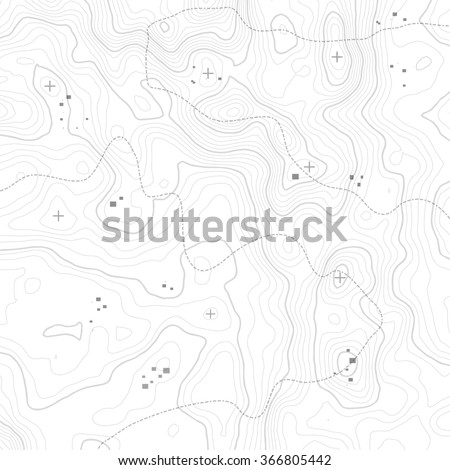 Topographic map background concept with space for your copy. - stock vector