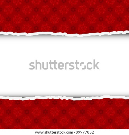 Torn christmas background with place for your text. Vector illustration - stock vector