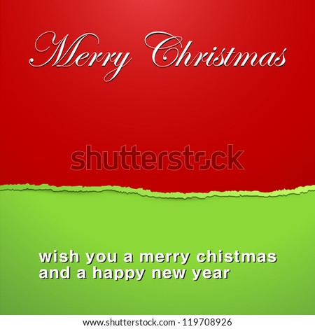 Torn Christmas Paper - Vector Illustration - stock vector