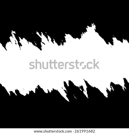 Torn layout in black and white with copyspace. - stock vector