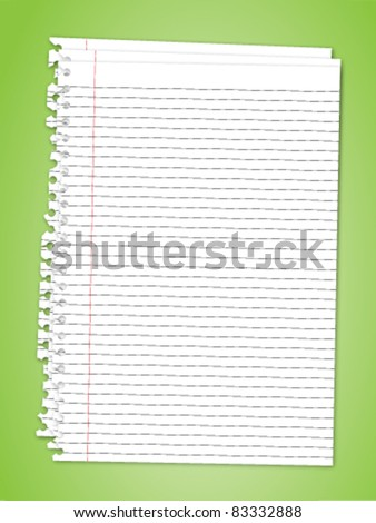 Torn note paper stack - stock vector