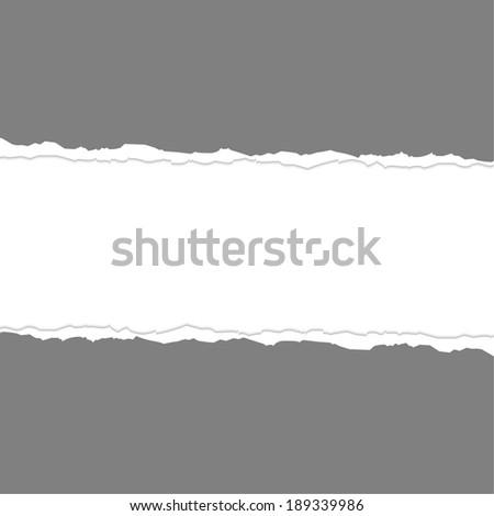 Torn paper. - stock vector