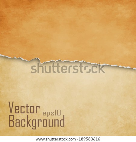 Torn paper background with space for text - vector - stock vector