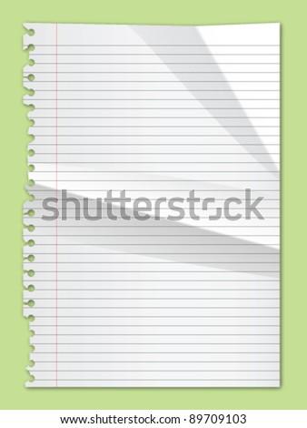 Torn Paper Crumpled Vector - stock vector