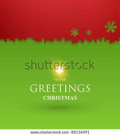 Torn paper in the shape of Christmas Snowflakes. Vector Illustration - stock vector