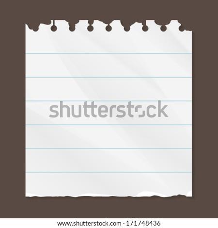 torn paper line - stock vector