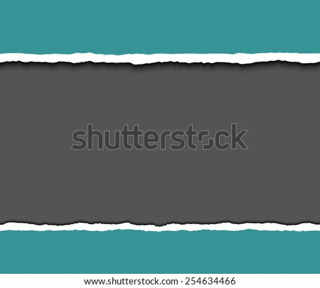 Torn paper pieces background wit space for text. Vector EPS10 illustration. Design elements - paper with ripped edges - stock vector