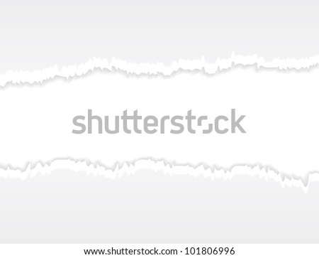 Torn paper. Realistic horizontal commercial vector background. - stock vector