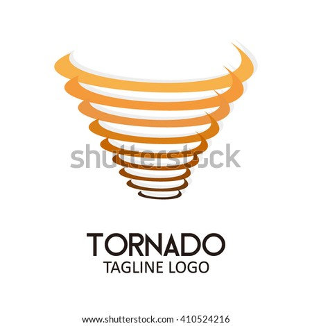 Tornado circle round abstract vector logo design template business icon company identity symbol concept - stock vector
