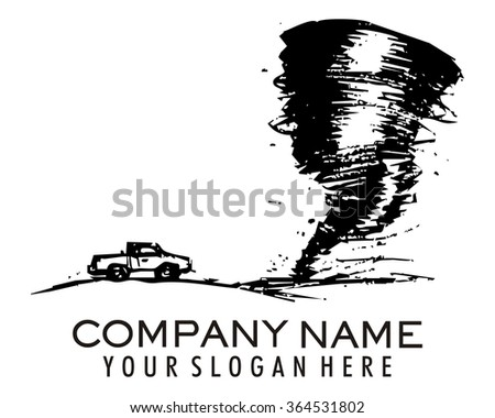 tornado cyclone logo - stock vector