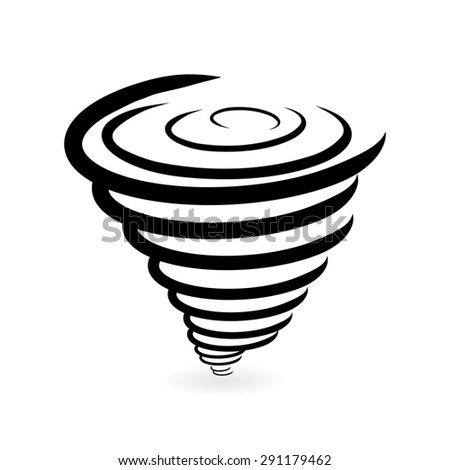 Tornado Icon - stock vector