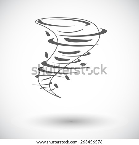 Tornado. Single flat icon on white background. Vector illustration.