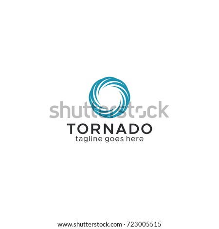 Tornado Vortex Hurricane Logo Template Stock Vector HD (Royalty Free ...