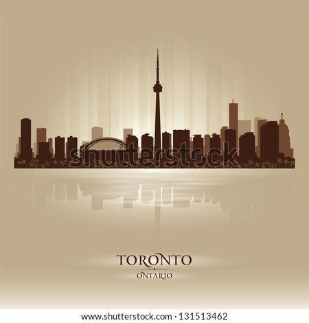 Toronto Ontario skyline city silhouette. Vector illustration - stock vector