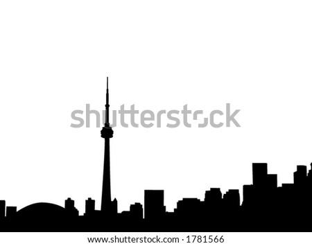 Toronto skyline. - stock vector