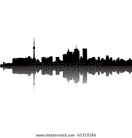 Toronto Skyline (eps10 vector) - stock vector
