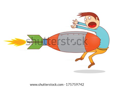 torpedo attack - stock vector