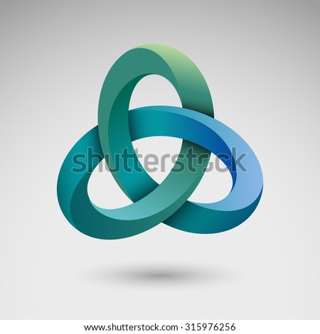 Torus knot, eps10 vector - stock vector