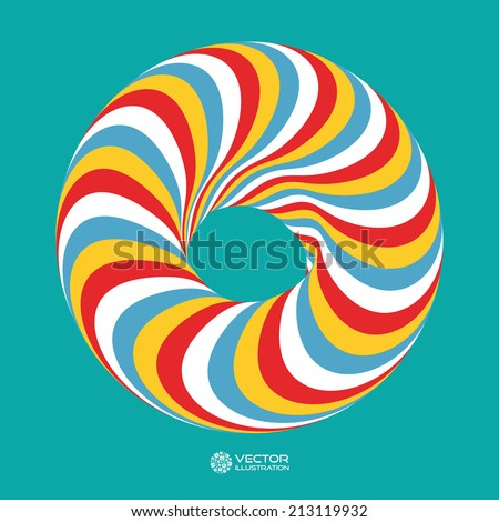 Torus. Vector 3D illustration. Abstract for internet sites, web user interfaces (ui) and applications (apps). Infinity sign.  - stock vector