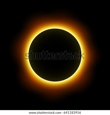 Total eclipse of the sun . Vector .