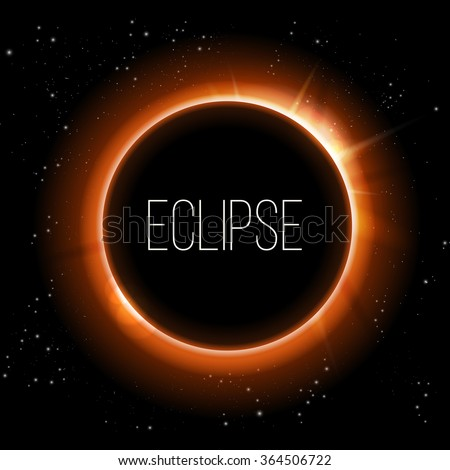 Total eclipse of the sun, vector illustration/ - stock vector