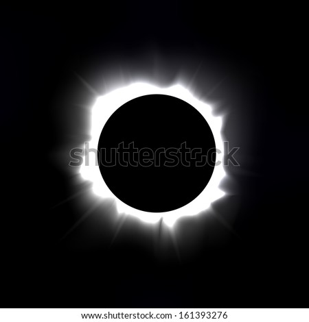Total solar eclipse vector illustration - stock vector
