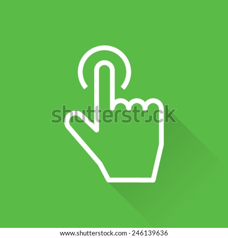 Touch Fingerprint Scan Icon - stock vector