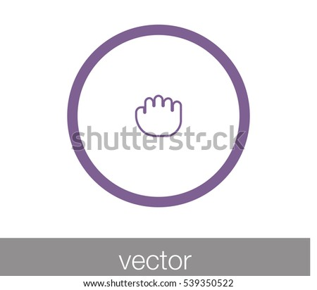 touch gesture icon. hand icon. hand cursor icon. touch screen cursor icon.